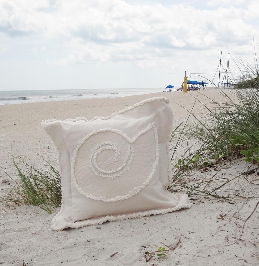 Nautilus Canvas Sea Pillow