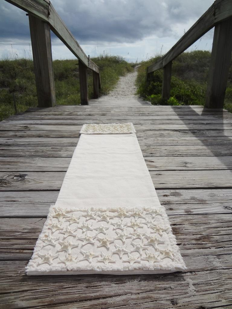 Starfish Table Runner-Ivory Canvas