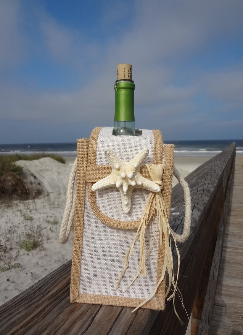 Wine Bottle Bag-Single W/Flap